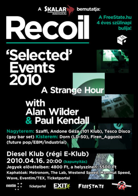 RECOIL - SELECTED - BUDAPEST